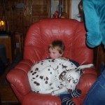 Barnvänlig hund fanns det oxå.