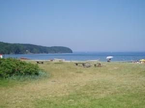 Vår strand på campingen