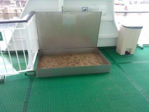 Hundtoalett på båten