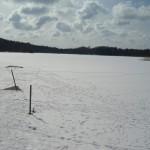 Mycket snö o is på våra sjö